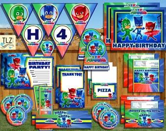PJ Masks Birthday Package - Printable Digital Files