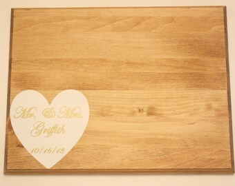 Wood Guestbook Sign