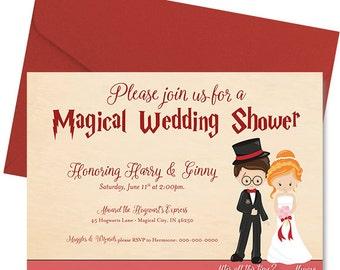 Harry potter bridal shower invitation Etsy