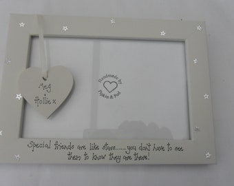 Friends are like stars....Personalised photoframe  best/special friends/auntie