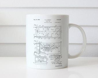 Pin Ball Machine Patent Mug, Basement Decor, Garage Decor, Game Room Mug, Diner Decor, Gamer Gift, PP0079