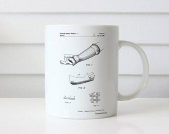 Orthopedic Hard Cast Patent Mug, Doctor Office Decor, Science Mug, Medical Mug, PP0687