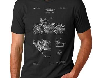 Harley Davidson Model JD Patent T Shirt, Vintage Harley Davidson, Harley Davidson Shirt, Harley Davidson Clothing, PP0010