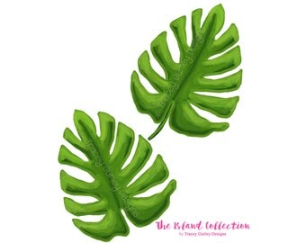 Palm leaf art - Original Art download, tropical clip art, tropical clipart, palm frond art, palm beach chic, digital download