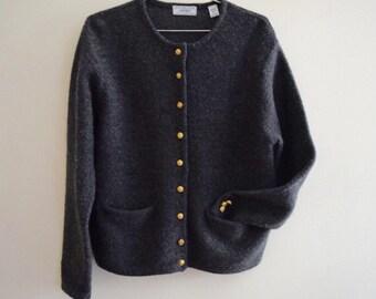 Vintage Lord & Taylor Wool Sweater // Petite Large