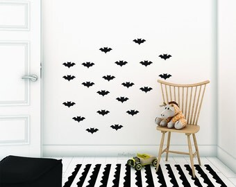 Little bats Wall Decal. Nursery bats wall stickers.  Little bats Wall Decals. Children  vinyl bats