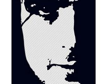 SYD BARRETT Embroidered T Shirt - Black