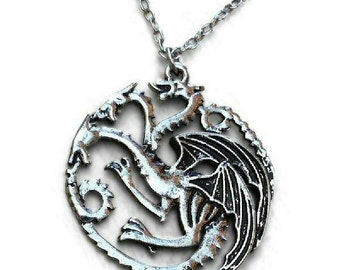 GAME OF THRONES 3 Headed Dragon Necklace