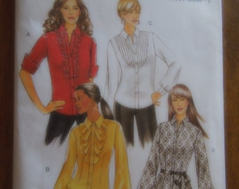 Butterick B5284, sizes 16-22, misses, womens, shirts, tops, blouses, UNCUT sewing pattern, craft supplies,