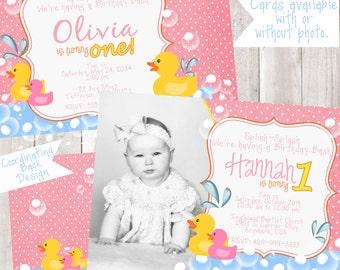Rubber Ducky Birthday Invitation
