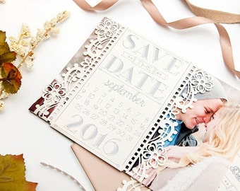 Vintage Style Save the Date Cards-set of 10