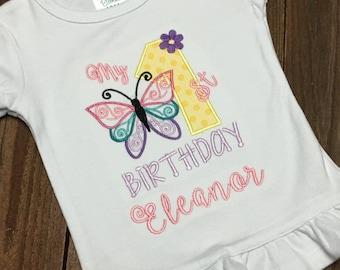 My first birthday shirt, butterfly first birthday shirt, Butterfly Birthday,  First Birthday Shirt, Cake Smash, Birthday Shirt