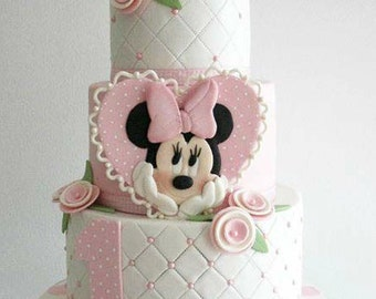 Minnie Mouse (Heart) Cake Topper