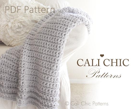 Crochet Quilt Patterns Beginners : Beginner Crochet Blanket PATTERN 101 - Simply Chic - Blanket Throw ...