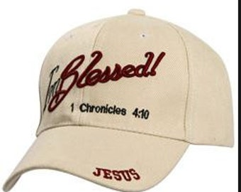 I'm Blessed BEIGE Embroidered Cap