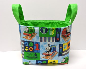 Thomas the Train Toy Basket/Tote/Gift Basket/Centerpiece/Storage Basket