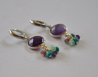 Loops precious stones set on sleepers