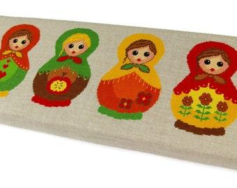 Matryoshka russian doll - Modern cross stitch pattern PDF instant download