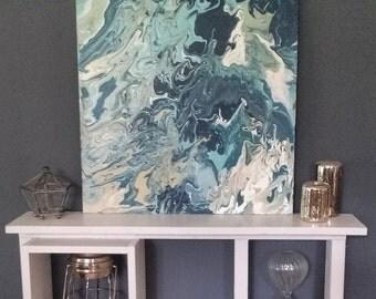 Uncalm Sea -- Original Abstract 24x24