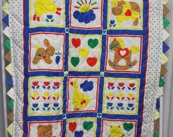 Farm Aninal Baby Quilt