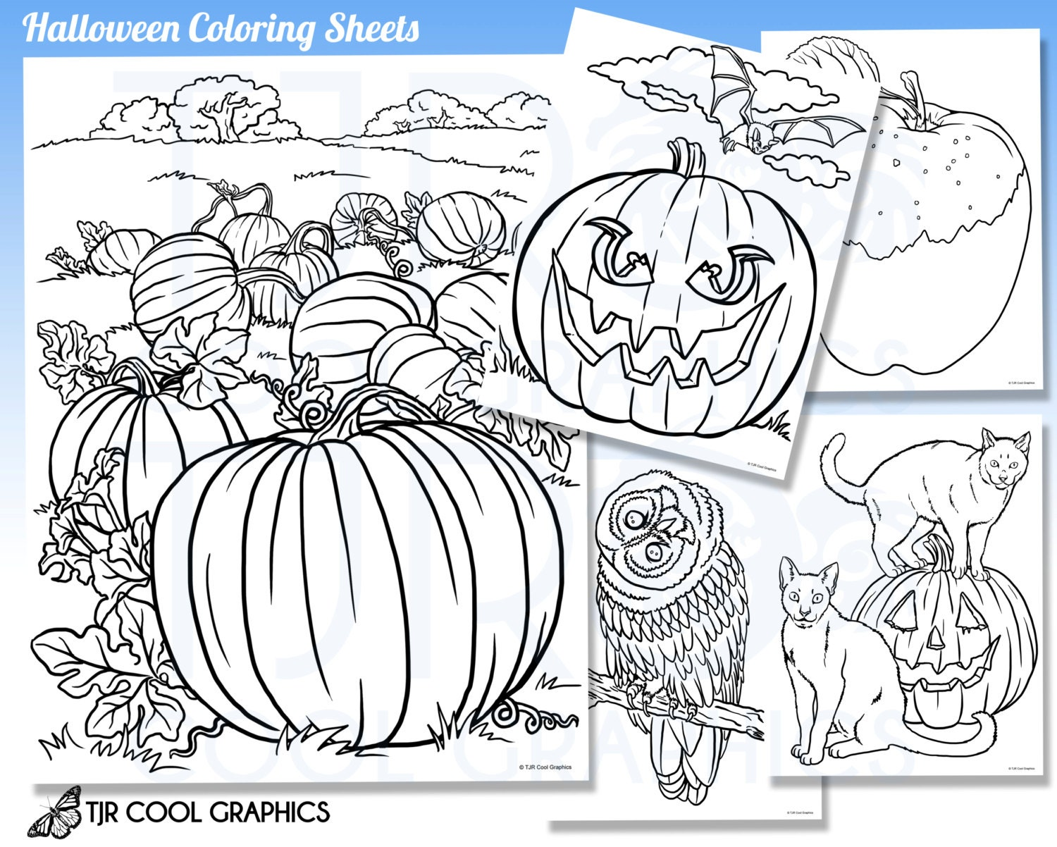 realistic halloween coloring pages - photo#31