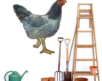 Hen Chicken Cut Out Animal Wall Decal - #44338