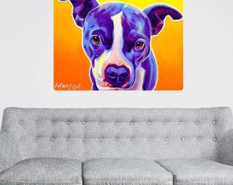 Sadie Pit Bull Puppy Dog Wall Decal - #60029