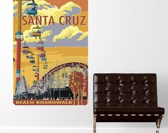 Santa Cruz California Boardwalk Wall Decal - #60912