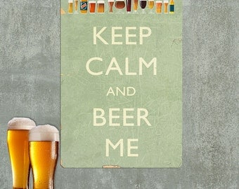 Keep Calm and Beer Me Funny Wall Decal - #60696