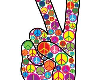 Cool Colorful Peace Symbols Peace Sign Print