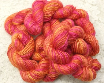 hand dyed blue faced leicester 100 yards great adirondack peaches