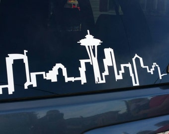 Seattle Skyline Decal... Car Vinyl decal iPad Decal
