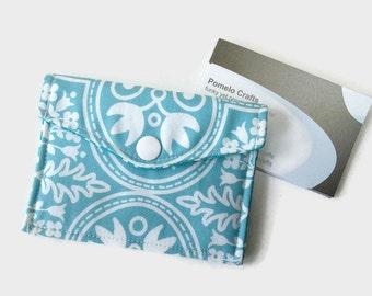 Business card case, Business card holder, credit card holder, loyalty card holder, fabric business card holder