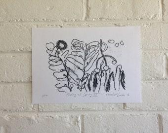 Mono Print - Feeling of Spring II - 1/10