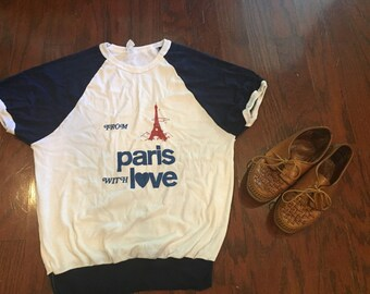Vintage from paris with love tshirt