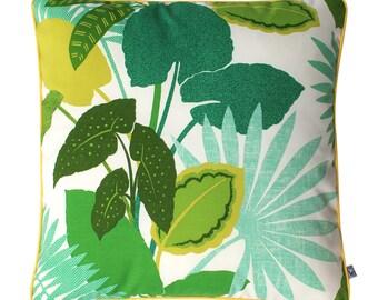 GREEN TROPICS Euro Outdoor Cushion Pillow | 62cm | 24 inch Square