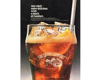 Vintage 1988 magazine ad for Southern Comfort - 211