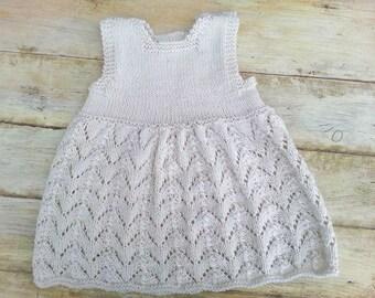 Summer Baby Knitting Patterns : KNITTING PATTERN Baby Dress Baby Knit Dress Baby Lace