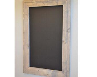 24x36 rustic chalkboard framed chalkboard gift for her christmas gift wedding sign - Wood Framed Chalkboard