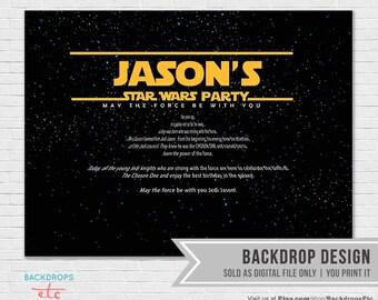 Star Wars Backdrop - Digital File, YOU PRINT