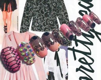 PRETTY EDGY Press On Nails | Fall 2016 Style Trend | Fake Nails | False Nails | 3D Nail Art Design | Glue On Nails