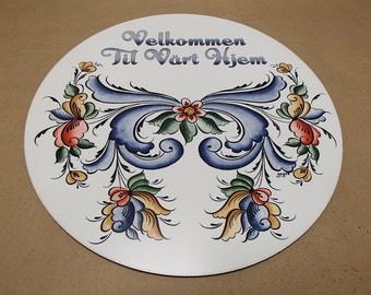 Norwegian Rosemaling Hex Sign Made in USA