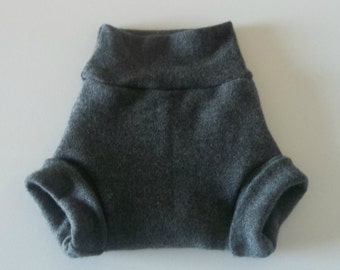 MEDIUM 100% Wool Cloth Diaper Cover, Upcycled Wool Soaker, Wool Shorties