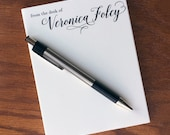 Graceful Calligraphy From the desk of notepad, Luxurious 100% cotton personalized notepad, from the desk of pad, custom note pad,  memo pad