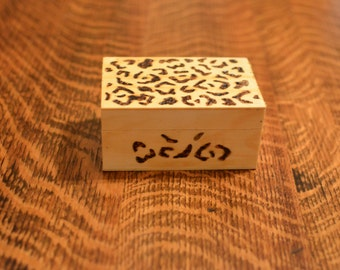 Upcycled Woodburned Trinket Box