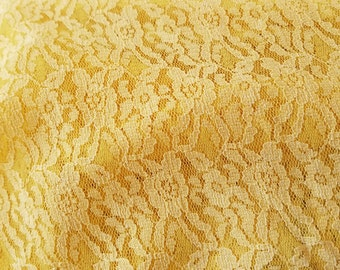 Yellow Lace Round Tablecloth #19