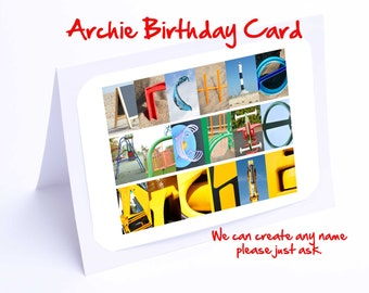 Archie Personalised Birthday Cards