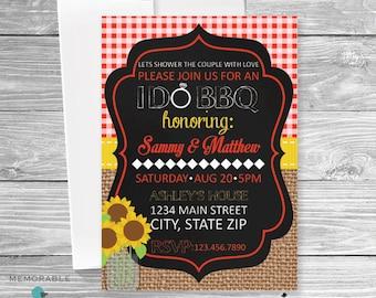 Bridal Shower Invitation - I do BBQ - Bridal Shower BBQ Invitation - BBQ Invitation - Wedding Invitation - Printable Invitations
