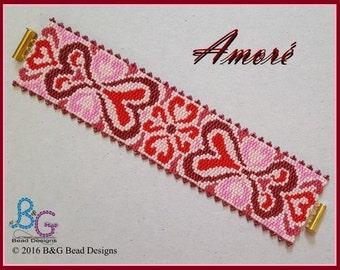 AMORÉ Peyote Cuff Bracelet Pattern