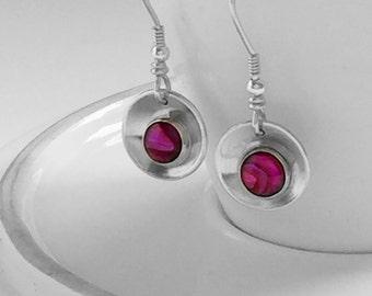 Abolone shell earrings
